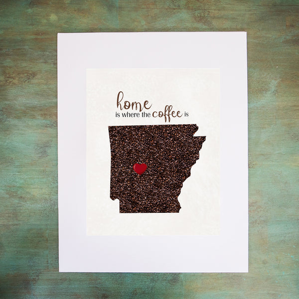 ARKANSAS Custom Map Art Print