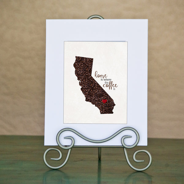 CALIFORNIA Custom Map Art Print