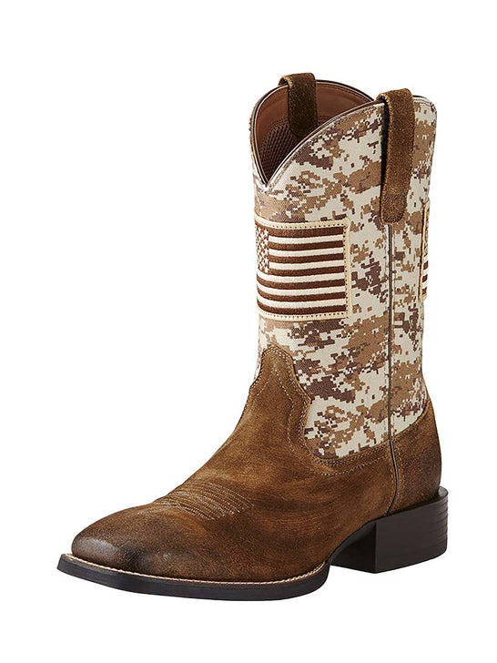 Ariat® Mens Sport Patriot Antique Mocha Sand Camo Boot 10019959 Ariat - J.C. Western® Wear