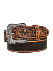 Ariat Mens Croc Embossed Turquoise Stone Western Belt A1029802 Ariat - J.C. Western® Wear