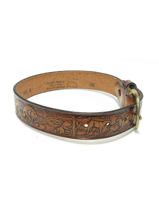 Tony Lama Kids Western Embossed Outdoor Leather Belt B100 JC Western Wear