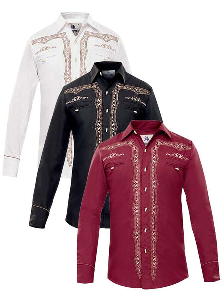 Rangers Camisa Vaquera Long Sleeve Embroidered Western Shirt 018CA01