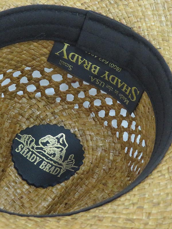 Shady Brady Twisted Hat Band Crushable Straw Hats 1WW30 side front