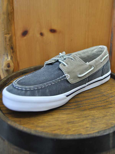Sperry Mens BAHAMA II Boat Shoes Washed Navy Khaki STS17783