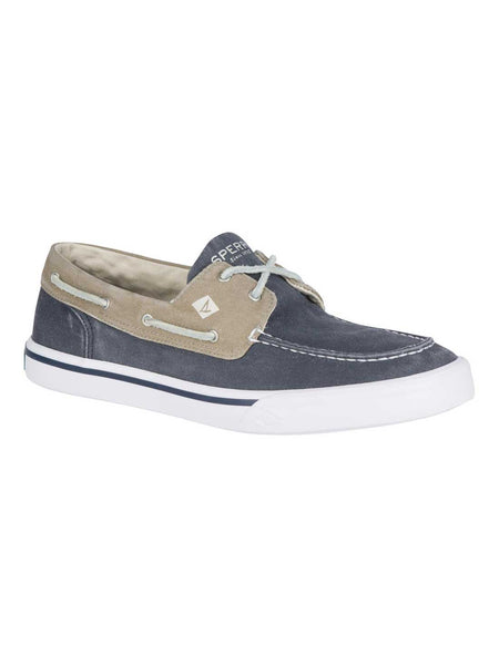 Sperry Mens BAHAMA II Boat Shoes Washed Navy Khaki STS17783 Sperry - J.C. Western® Wear