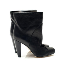 5307 CRACKED LEATHER BOOTS, BLACK