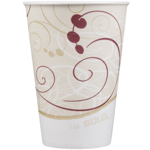 Dart Solo R7N-J8000 Symphony 7 oz. Wax Treated Paper Cold Cup - 2000/Case
