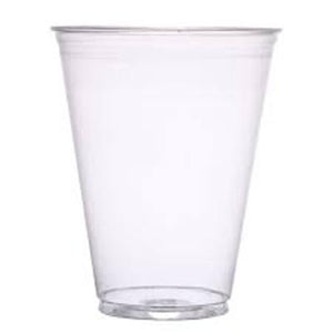 Solo 7 oz. Plastic Cold Cup, Clear, #TP7  - 1000 Cups / Case