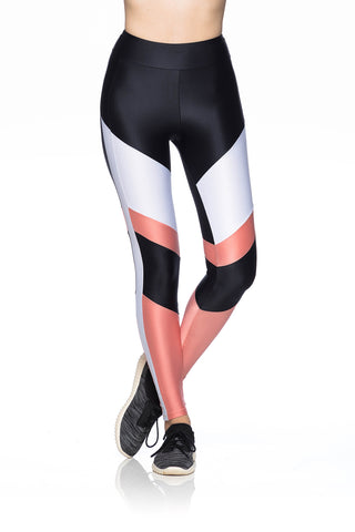 Grid Leggings - Black
