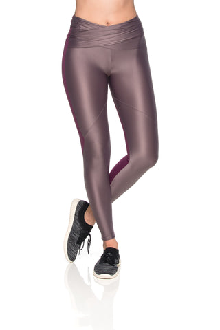 Waistband Reflect Leggings - Dark Burgundy