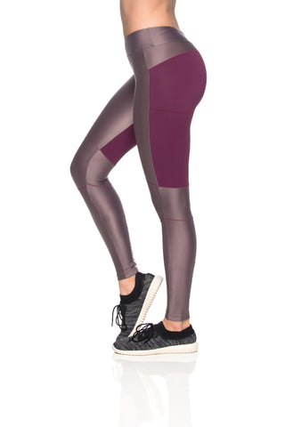 Knees Reflect Leggings - Dark Burgundy