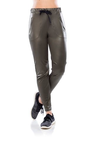 Athleisure Pants - Military Green