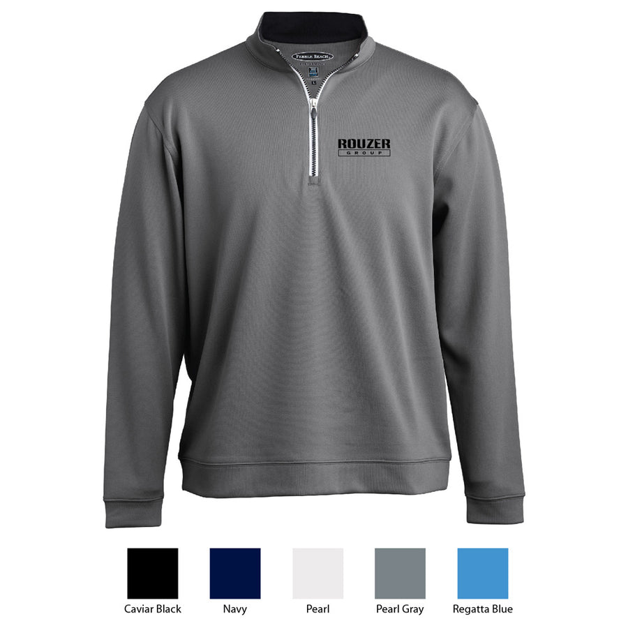 Rouzer Pebble Beach Mens Contrast 1/4 Zip Jacket - Advanced Sportswear Inc, - Newport, MN