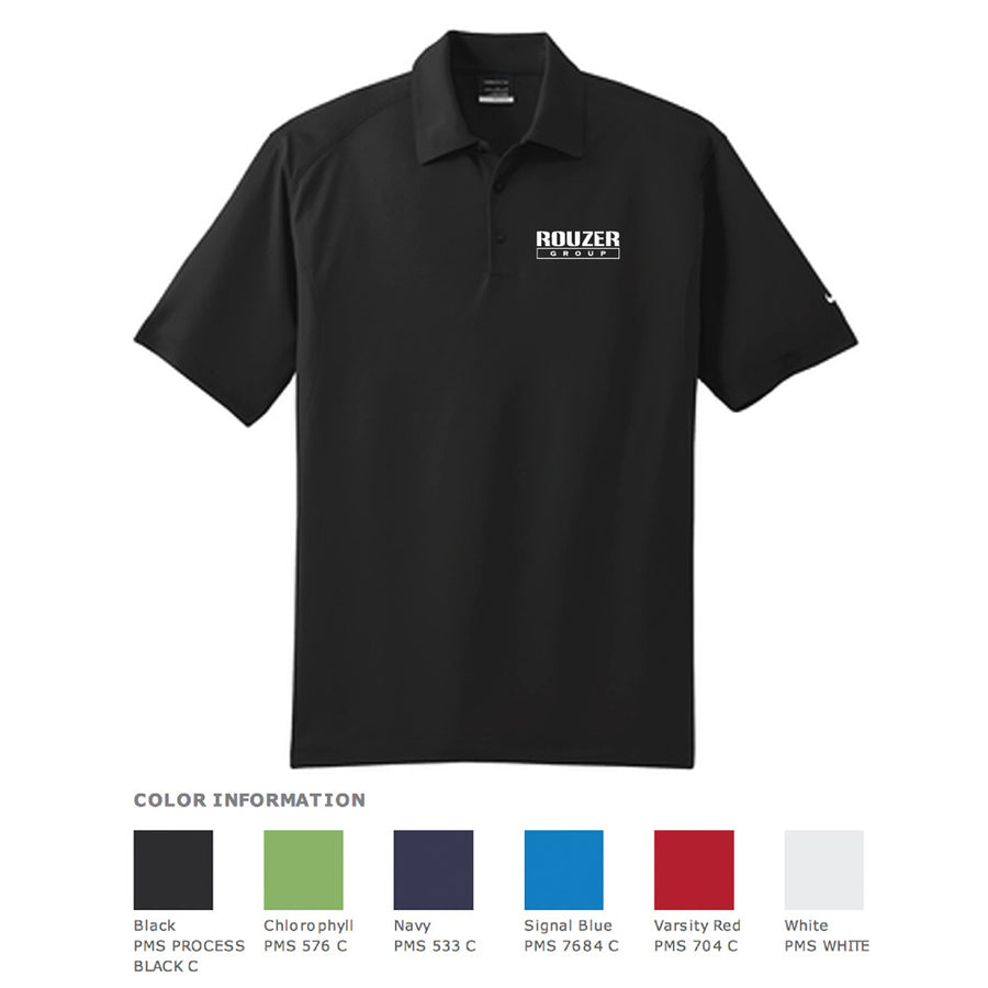 Rouzer Nike Dri-Fit Mini Texture Polo - Advanced Sportswear Inc, - Newport, MN