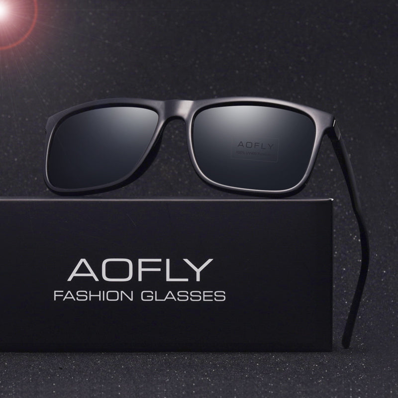 Classic Polarized sunglasses Square Black Frame