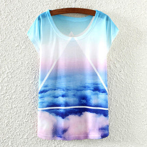 T-Shirt Short Sleeve Crew-Neck Causal Loose Fit