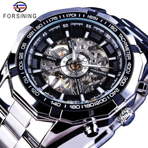 Stainless Steel Waterproof Military Casual Mechanical Watch