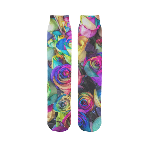 alloverprint.it Accessories 45X10 cm Overall Print Tube Socks - Roses