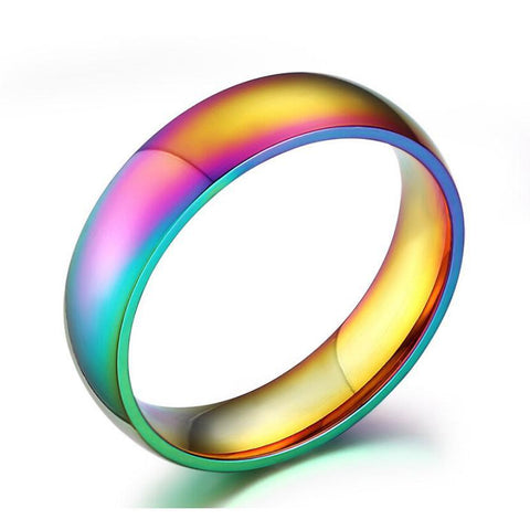 Maletropolis Men - Jewelry Anodized Stainless Steel Rainbow Ring