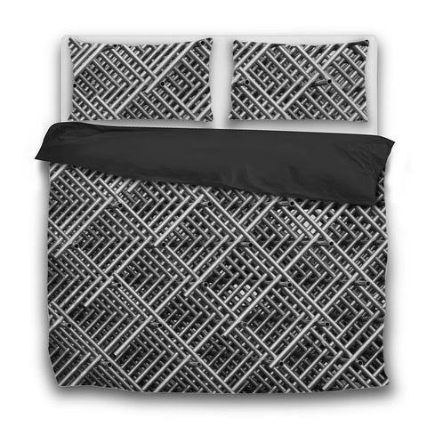 Printy6 Bedding Sets US Twin Custom Printed 3-Piece Duvet Cover Set - Pipe Grid