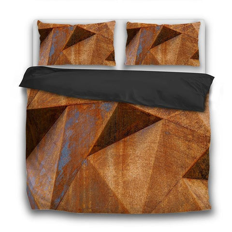 Printy6 Bedding Sets US Twin Custom Printed 3-Piece Duvet Cover Set - Rusty Facets