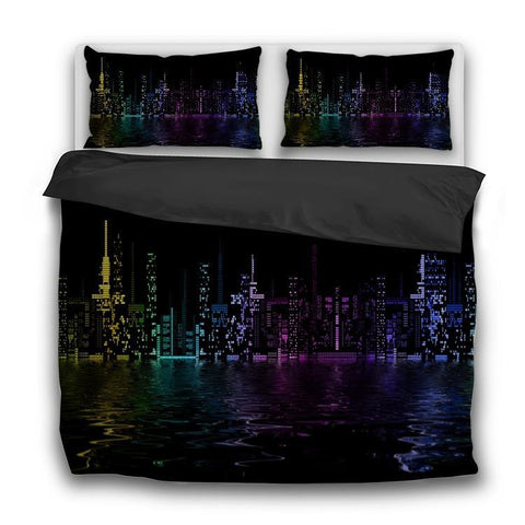 Printy6 Bedding Sets US Twin Custom Printed 3-Piece Duvet Cover Set - Skyline