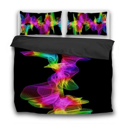 Printy6 Bedding Sets US Twin Custom Printed 3-Piece Duvet Cover Set - Sound Wave