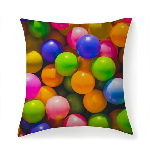 Printy6 Pillow 14''x14'' / Only Pillow Case Maletropolis Pride Pillow - Rainbow Balls
