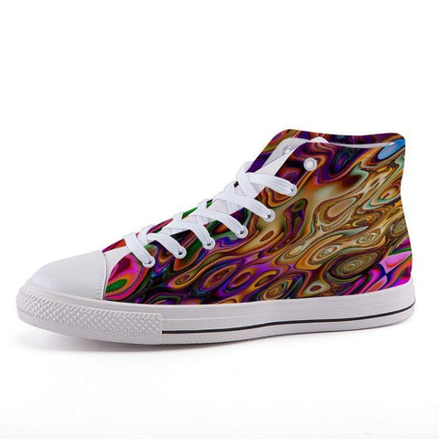Printy6 Shoes 35 Maletropolis Custom High-Top Pride Sneakers - French Marble