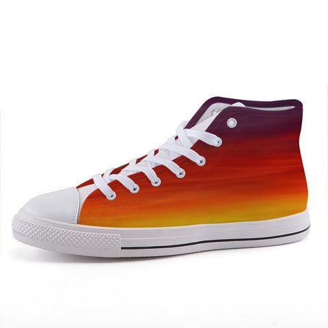 Printy6 Shoes 35 Maletropolis Custom High-Top Pride Sneakers - Rainbow Blend