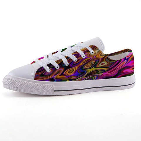 Printy6 Shoes 35 Maletropolis Custom Low-Top Pride Sneakers - French Marble