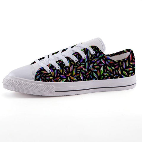Printy6 Shoes 35 Maletropolis Custom Low-Top Pride Sneakers - Polygons