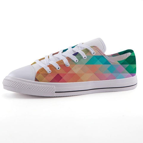 Printy6 Shoes 35 Maletropolis Custom Low-Top Pride Sneakers - Rainbow Herringbone
