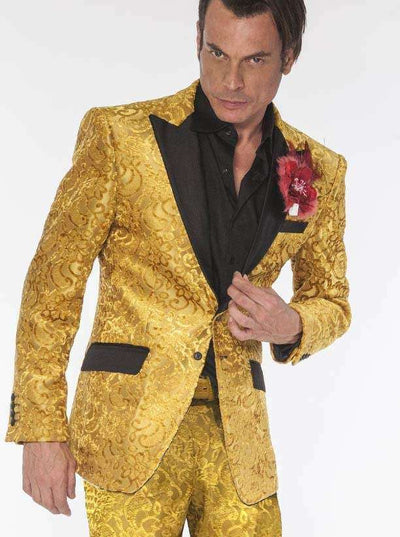 Mens Fashion Suit, Salsa Gold - ANGELINO