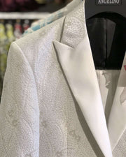 prom suits white woven fabric with white satin lapel-2