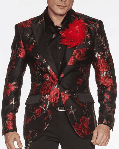 Fashion Blazer Celleb Red - ANGELINO