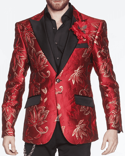 Red Blazer and Sport Coat Oliver Red - ANGELINO
