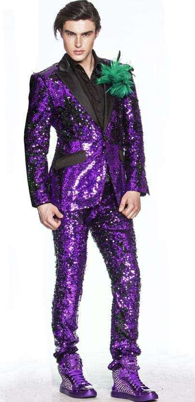 purple sequin suit for men - 2 - Angelino