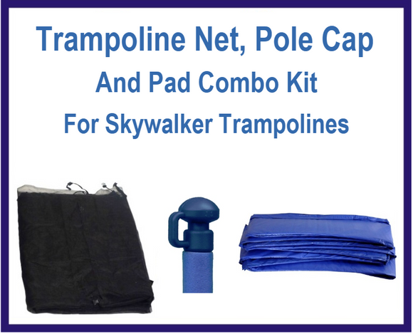 Net And Pad Combo Kit For Skywalker Trampolines-UBSW-12-6-IS-B