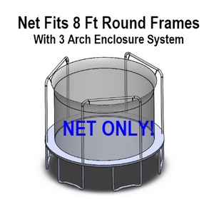 Net Fits 8 Ft. Round Frames With 3 Arch Enclosure Systems-UBNET-8-3AP
