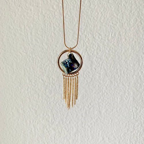 Luster Druzy Hematite Necklace