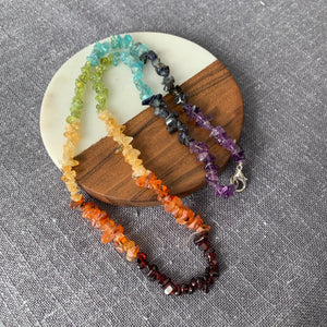 Chakra Chip Necklace healing crystals energy healing