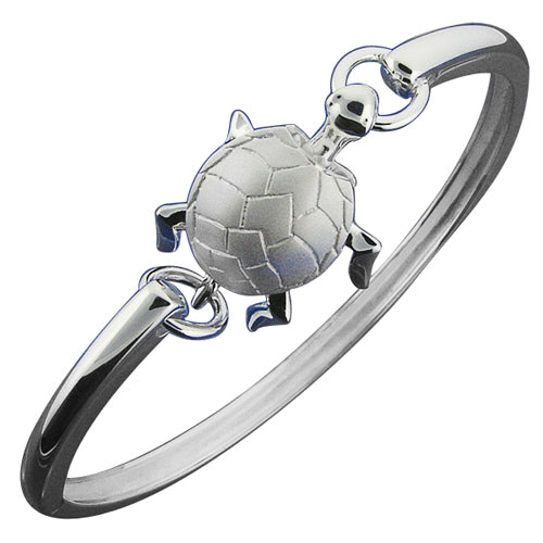 Hawaiian Jewelry Turtle Moving Open Bangle - Hanalei Jeweler