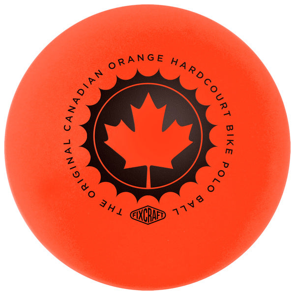 FIXCRAFT • Canadian Orange Hardcourt Bike Polo Ball