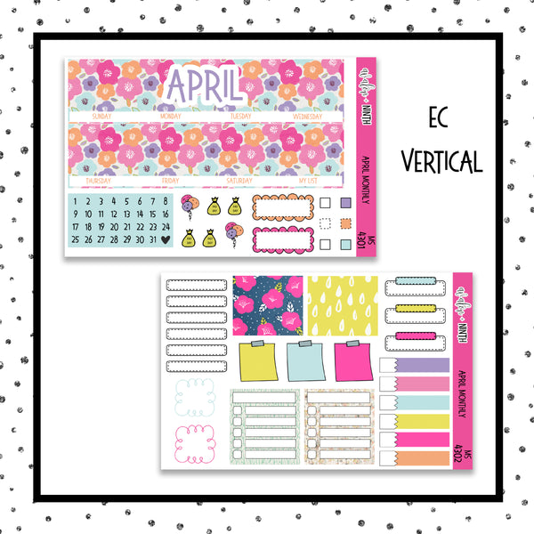 April Monthly Kit // Planner Stickers // MS4301