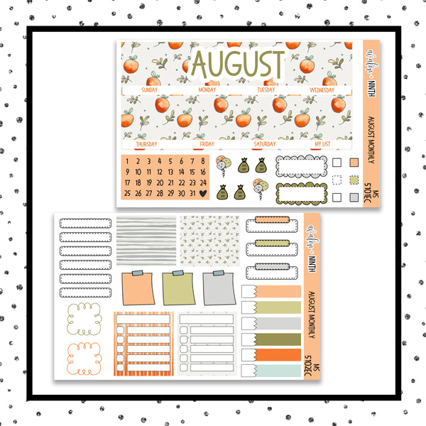 August Monthly Kit // EC Vertical // Planner Stickers // MS5101EC