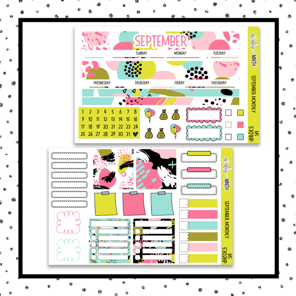 September Monthly Kit // HP Classic // Planner Stickers // MS5301HP