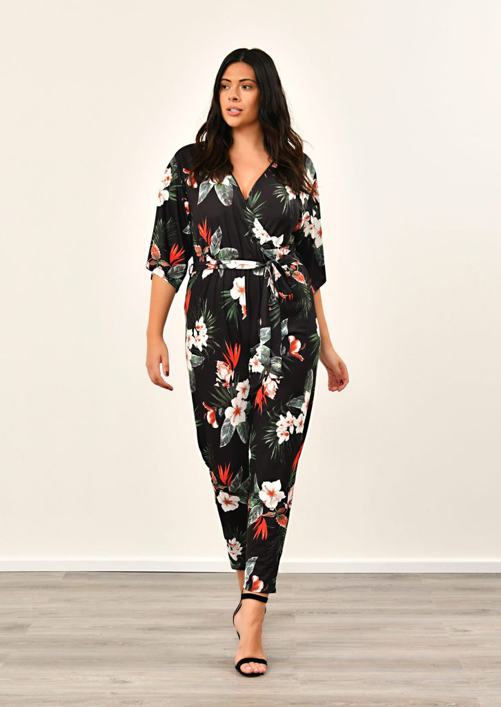 Black Floral Jumpsuit 1