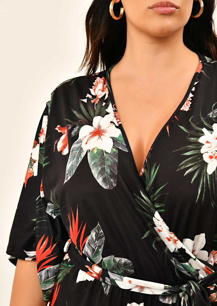 Black Floral Jumpsuit 5 view 5