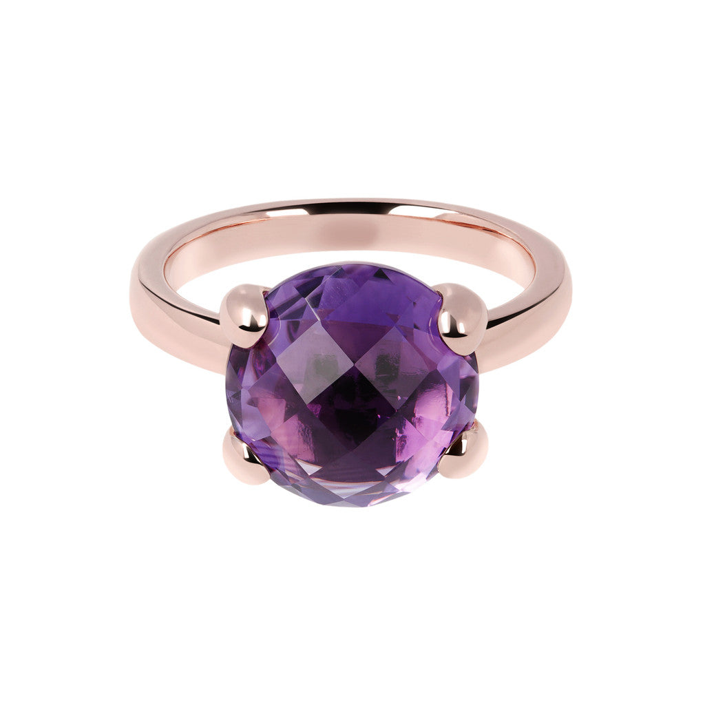 Amethyst stone cocktail ring setting